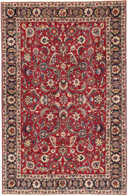 Mashad Patina Rug 197X300 Authentic  Oriental Handknotted Dark Brown/Crimson Red (Wool, Persia/Iran)
