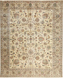Tabriz Patina Matto 303X380 Itämainen Käsinsolmittu Beige/Vaaleanruskea Isot (Villa, Persia/Iran)