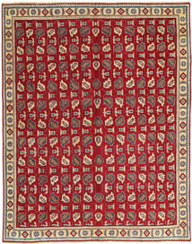 Tabriz Patina Tæppe 147X200 Ægte Orientalsk Håndknyttet Mørkerød/Lysebrun (Uld, Persien/Iran)