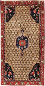 Tabriz Patina Matto 143X275 Itämainen Käsinsolmittu Käytävämatto Tummanpunainen/Vaaleanruskea (Villa, Persia/Iran)