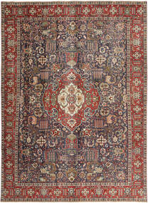 Tabriz Patina Rug 246X330 Authentic  Oriental Handknotted Light Brown/Black (Wool, Persia/Iran)