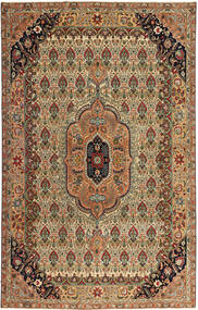 Tabriz Patina Rug 195X305 Authentic  Oriental Handknotted Brown/Light Brown (Wool, Persia/Iran)