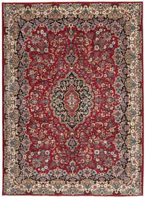 Mashad Patina Teppe 248X336 Ekte Orientalsk Håndknyttet Brun/Mørk Blå (Ull, Persia/Iran)