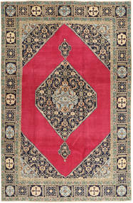 Tabriz Patina Teppe 202X312 Ekte Orientalsk Håndknyttet Lysbrun/Rød (Ull, Persia/Iran)