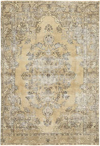 Colored Vintage Rug 200X298 Authentic  Modern Handknotted Light Brown/Dark Beige (Wool, Persia/Iran)