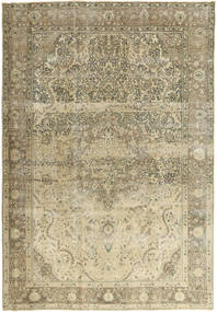 Colored Vintage Rug 240X347 Authentic Modern Handknotted Olive Green/Dark Beige (Wool, Persia/Iran)