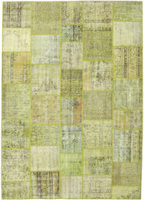 Patchwork Rug 251X351 Authentic  Modern Handknotted Light Green Large (Wool, Turkey)