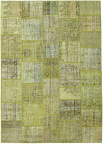 Patchwork Rug 251X355 Authentic  Modern Handknotted Light Green/Olive Green Large (Wool, Turkey)