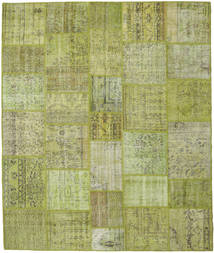Patchwork Rug 251X298 Authentic  Modern Handknotted Light Green/Olive Green Large (Wool, Turkey)