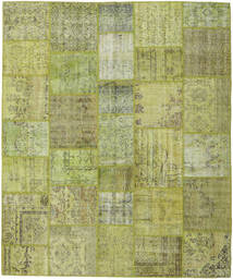 Patchwork Rug 251X302 Authentic  Modern Handknotted Light Green/Olive Green Large (Wool, Turkey)