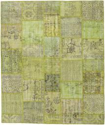 Patchwork Matto 252X301 Moderni Käsinsolmittu Vaaleanvihreä/Oliivinvihreä Isot (Villa, Turkki)