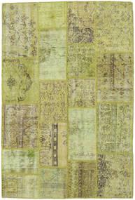 Patchwork Matto 137X201 Moderni Käsinsolmittu Vaaleanvihreä/Oliivinvihreä (Villa, Turkki)