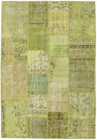 Patchwork Dywan 137X201 Nowoczesny Tkany Ręcznie Jasnozielony/Zielony/Oliwkowy (Wełna, Turcja)