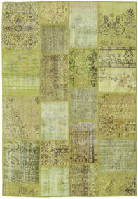Patchwork Rug 140X203 Authentic  Modern Handknotted Light Green/Olive Green (Wool, Turkey)