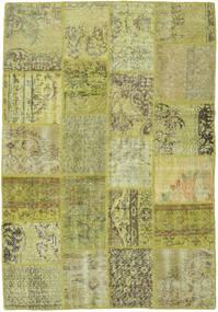 Patchwork Matto 138X200 Moderni Käsinsolmittu Vaaleanvihreä/Oliivinvihreä (Villa, Turkki)