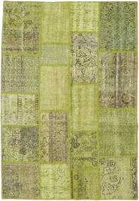 Patchwork Rug 139X203 Authentic  Modern Handknotted Light Green/Olive Green (Wool, Turkey)
