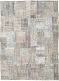 Patchwork Rug 255X350 Authentic  Modern Handknotted Light Grey Large (Wool, Turkey)