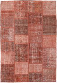 パッチワーク 絨毯 158X230 モダン 手織り 深紅色の/薄茶色 (ウール, トルコ)