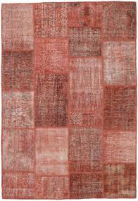 パッチワーク 絨毯 158X232 モダン 手織り 茶/ライトピンク (ウール, トルコ)