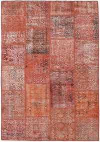 Patchwork Rug 160X228 Authentic  Modern Handknotted Brown/Light Brown (Wool, Turkey)