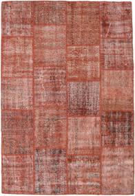 Patchwork Matto 157X231 Moderni Käsinsolmittu Ruskea/Vaaleanpunainen (Villa, Turkki)