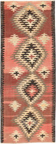 Kilim Rug 150X394 Authentic  Oriental Handwoven Hallway Runner  Brown/Yellow (Wool, Persia/Iran)