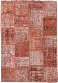 Patchwork Rug 159X230 Authentic  Modern Handknotted Brown/Light Pink (Wool, Turkey)