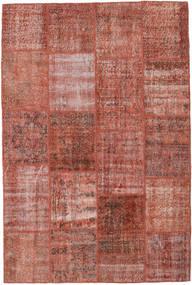 Patchwork Matto 158X235 Moderni Käsinsolmittu Ruskea/Vaaleanpunainen (Villa, Turkki)
