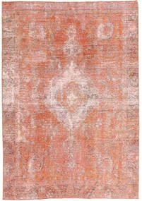 Colored Vintage Tapis 188X265 Moderne Fait Main Rose Clair/Marron Clair (Laine, Perse/Iran)