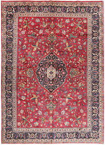 Mashad Rug 340X460 Authentic  Oriental Handknotted Dark Red/Rust Red Large (Wool, Persia/Iran)