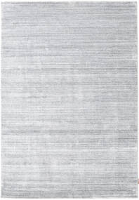 Bamboo Silk Loom - Grey Rug 160X230 Modern White/Creme/Light Grey ( India)