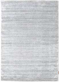 Bamboo Silk Loom - Grey Rug 140X200 Modern Light Grey/White/Creme ( India)