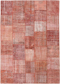 Patchwork Rug 251X352 Authentic  Modern Handknotted Dark Red/Light Pink Large (Wool, Turkey)