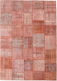 Patchwork Rug 252X360 Authentic  Modern Handknotted Light Pink/Dark Red Large (Wool, Turkey)
