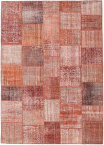 Patchwork Rug 251X353 Authentic  Modern Handknotted Light Pink/Dark Red Large (Wool, Turkey)