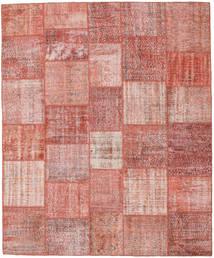 Patchwork Rug 251X303 Authentic  Modern Handknotted Light Pink/Rust Red/Dark Beige Large (Wool, Turkey)