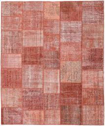 Patchwork Rug 252X302 Authentic  Modern Handknotted Rust Red/Light Pink/Brown/Dark Beige Large (Wool, Turkey)