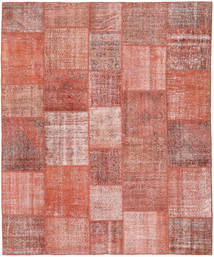 Patchwork Rug 252X301 Authentic  Modern Handknotted Light Pink/Dark Red Large (Wool, Turkey)