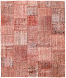 Patchwork Matto 252X300 Moderni Käsinsolmittu Vaaleanpunainen/Ruskea/Tummanbeige Isot (Villa, Turkki)