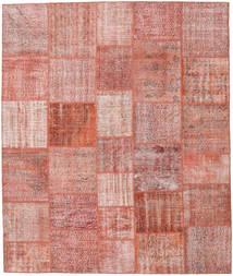 Patchwork Matto 251X298 Moderni Käsinsolmittu Vaaleanpunainen/Ruskea Isot (Villa, Turkki)
