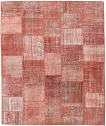 Patchwork Matto 251X297 Moderni Käsinsolmittu Vaaleanpunainen/Tummanpunainen/Ruoste Isot (Villa, Turkki)