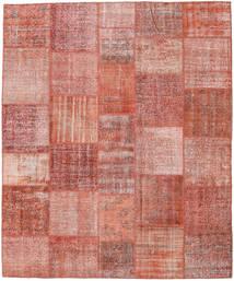 Patchwork Matto 252X303 Moderni Käsinsolmittu Vaaleanpunainen/Ruskea Isot (Villa, Turkki)
