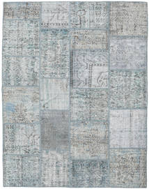 Patchwork Rug 195X251 Authentic  Modern Handknotted Light Grey/Dark Grey (Wool, Turkey)