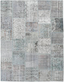 Patchwork Rug 196X251 Authentic  Modern Handknotted Light Grey/Turquoise Blue (Wool, Turkey)