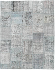 Patchwork Rug 198X252 Authentic  Modern Handknotted Light Grey (Wool, Turkey)
