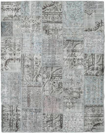 Patchwork Rug 198X252 Authentic  Modern Handknotted Light Grey/Dark Grey (Wool, Turkey)