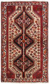 Ghashghai Matto 90X152 Itämainen Käsinsolmittu Tummanpunainen/Musta (Villa, Persia/Iran)