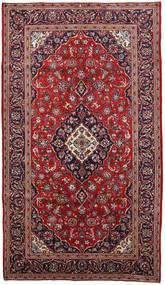 Keshan Vloerkleed 150X260 Echt Oosters Handgeknoopt Donkerrood/Donkergroen (Wol, Perzië/Iran)