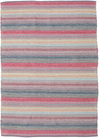 Wilma - Pink Rug 170X240 Authentic  Modern Handwoven Light Grey/Light Purple (Cotton, India)