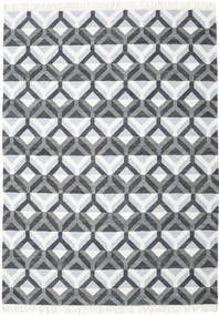 Aino Rug 210X290 Authentic  Modern Handwoven White/Creme/Light Blue (Wool/Bamboo Silk, India)